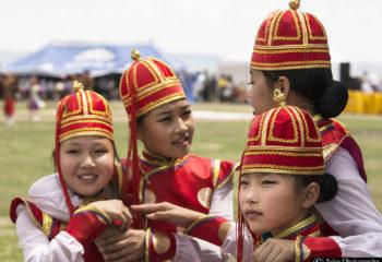 Girls at Naadam Festival
