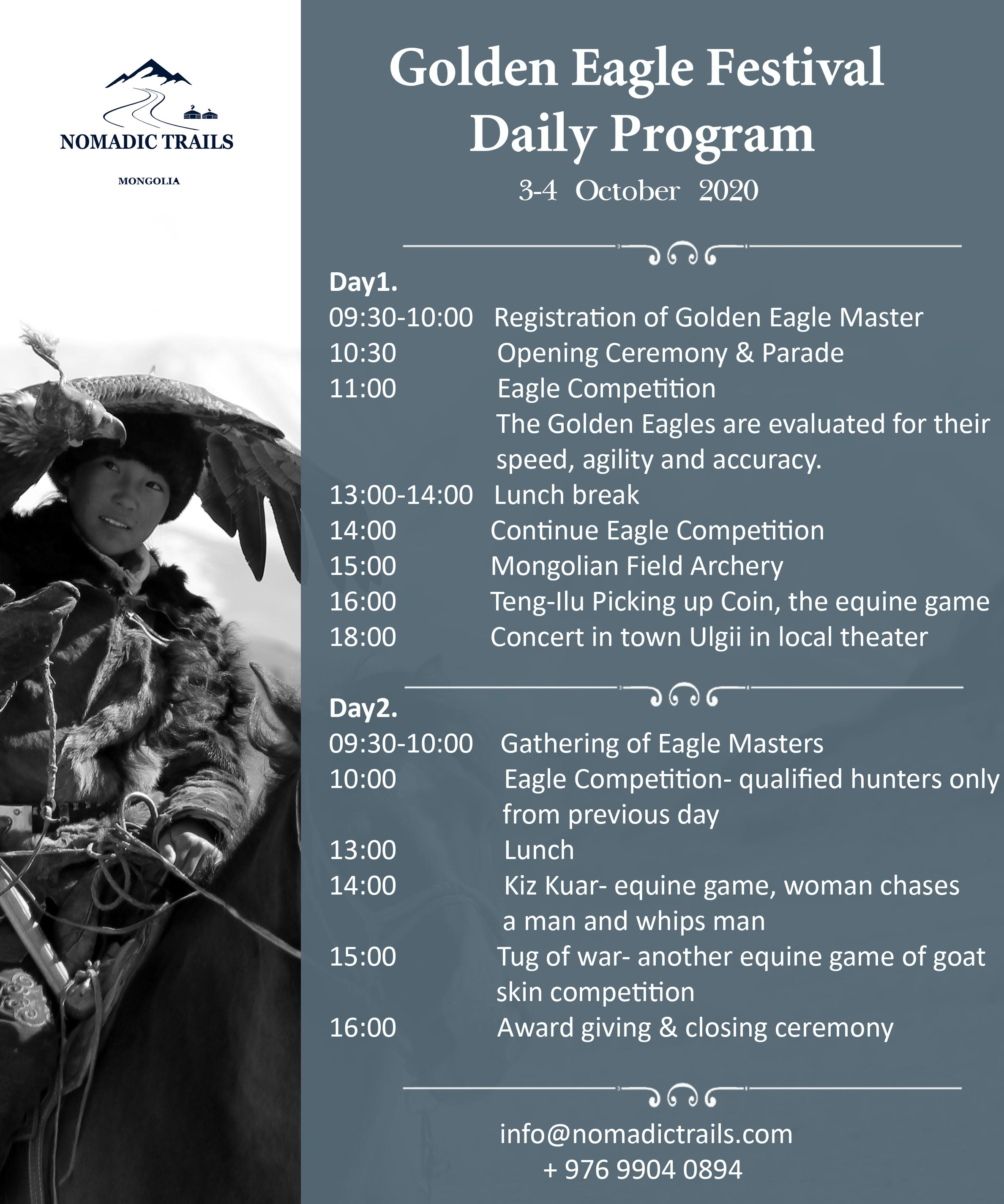 Golden Eagle Festival Daily Program